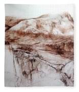 Mountains In Snowdonia Fleece Blanket