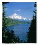 Mt. Hood National Forest Fleece Blanket