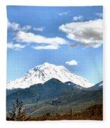 Mt Rainier Washington Fleece Blanket