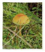 Mushroom And Moss Fleece Blanket
