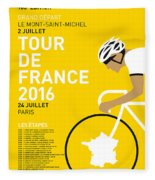 My Tour De France Minimal Poster 2016 Fleece Blanket