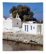 Mykonos Church Fleece Blanket