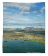 Beautiful Myvatn, Iceland Fleece Blanket