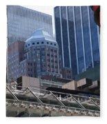 N Y C Architecture Fleece Blanket