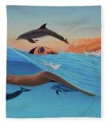 Nadando Contra Corriente Fleece Blanket