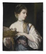 Nancy Reynolds With Doves Fleece Blanket