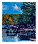 Nature Landscapes Around Lake Wylie South Carolina Fleece Blanket