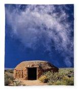 Navajo Hogan Fleece Blanket