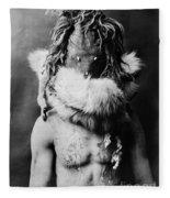 Navajo Mask, C1905 Fleece Blanket