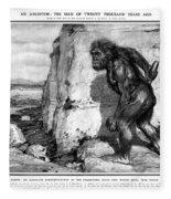 Neanderthal Man Fleece Blanket