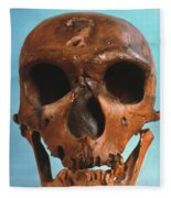 Neanderthal Skull Fleece Blanket