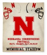 Nebraska Cornhuskers Fleece Blanket