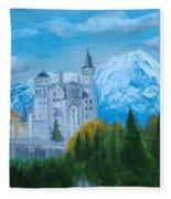 Neuschwanstein Castle In Bavaria Fleece Blanket