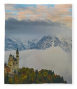 Neuschwanstein Castle Landscape Fleece Blanket