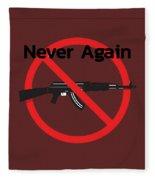 Never Again Ak47  Fleece Blanket