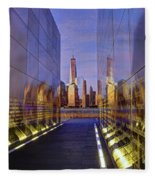 New Jersey Empty Sky 9-11 Memorial Fleece Blanket