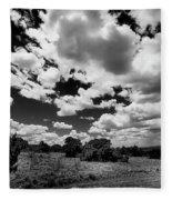 New Mexico Clouds Fleece Blanket