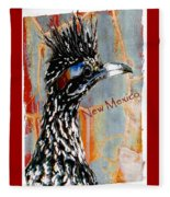 New Mexico Roadrunner Fleece Blanket