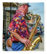 New Orleans Jazz Sax Fleece Blanket