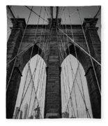 New York City - Brooklyn Bridge Fleece Blanket