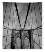 New York City - Brooklyn Bridge Fleece Blanket