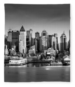 New York City Panorama Fleece Blanket