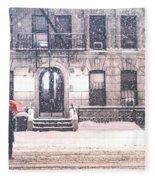 New York City Snow Fleece Blanket by Vivienne Gucwa