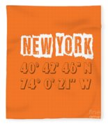 New York Coordinates Fleece Blanket
