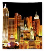 New York New York Hotel Fleece Blanket