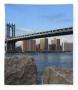 New York's Manhattan Bridge Fleece Blanket