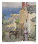 Newlyn From The Bottom Of Adit Lane Fleece Blanket
