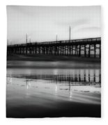 Newport Beach Pier At Sunrise Fleece Blanket