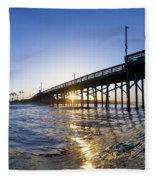 Newport Pier Curl Fleece Blanket