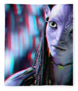 Neytiri - Use Red And Cyan 3d Glasses Fleece Blanket