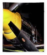 North American P-51d Mustang Fleece Blanket
