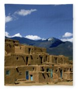 North Pueblo Taos Fleece Blanket