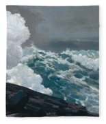 Northeaster, 1895 Fleece Blanket