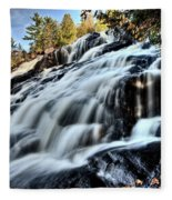 Northern Michigan Up Waterfalls Bond Falls Fleece Blanket