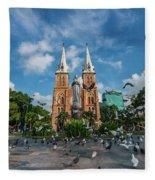 Notre-dame Cathedral Basilica Of Saigon, Officially Cathedral Basilica Of Our Lady Of The Immaculate Fleece Blanket