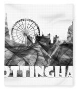 Nottingham England Skyline Fleece Blanket