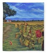 November Vineyard Fleece Blanket