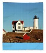 Nubble Light House Fleece Blanket