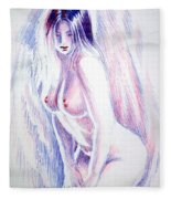 Nude Woman Fleece Blanket