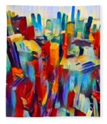 Nyc View Fleece Blanket