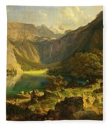 Obersee. Bavarian Alps Fleece Blanket