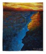 Ocean Sunset Fleece Blanket