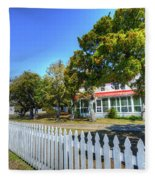 Ocracoke Lighthouse, Ocracoke Island, Nc Fleece Blanket