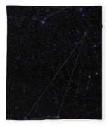 Octans, Apus, South Celestial Pole Fleece Blanket