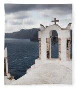 Oia Santorini 0989 Fleece Blanket