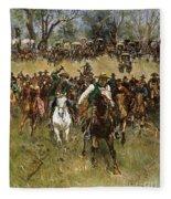 Oklahoma Land Rush, 1891 Fleece Blanket
